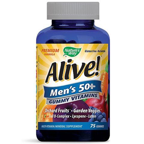 Alive Мултивитамини за мъже над 50 години х75 желирани таблетки Nature's Way