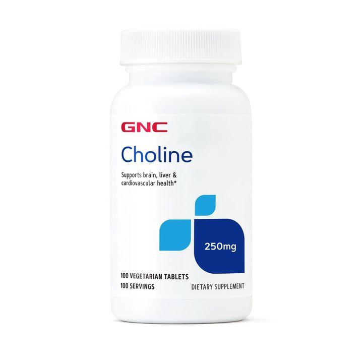GNC Холин Грижа за мозъка, черния дроб и сърцето 250мг х100 капсули