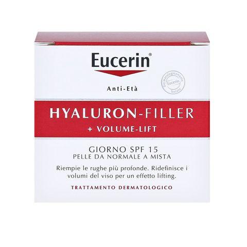 Eucerin Hyaluron-Filler + Volume-Lift  Дневен крем за лице за нормална и смесена кожа SPF15 x50 мл