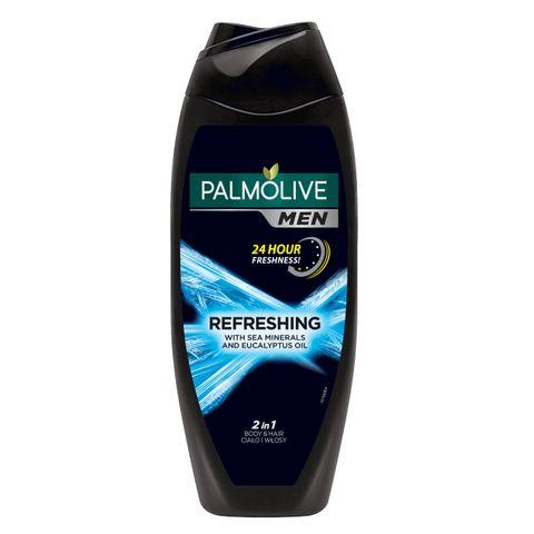 Palmolive Men Refreshing Душ гел и шампоан за мъже с морски минерали и евкалипт х250 мл