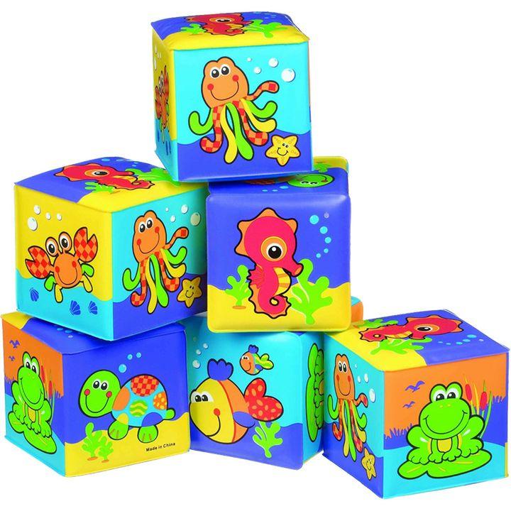 Playgro Меки кубчета за баня x6 броя за деца над 6 месеца - 0509