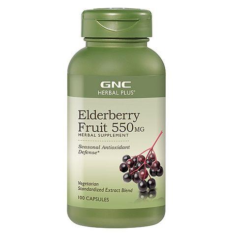 GNC Elderberry Fruit Черен Бъз Плод 550мг х100 капсули