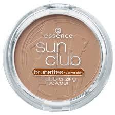 Essence Sun Club Компактна бронзираща пудра за лице, цвят Brunettes 02
