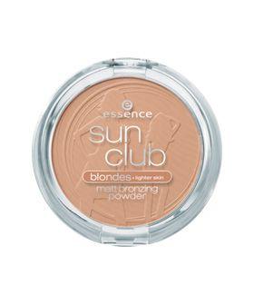 Essence Sun Club Компактна бронзираща пудра за лице, цвят Blondes 01