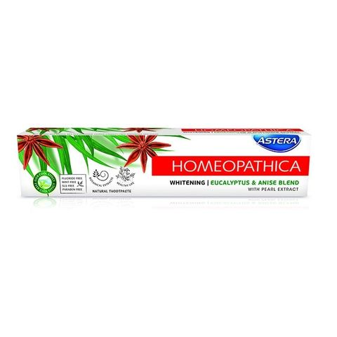 Astera Homeopdtica Whitening Избелваща паста за зъби х75 мл