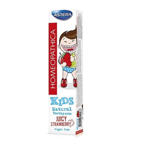Astera Homeopathica 0+ Детска паста за зъби с вкус на ягода х50 мл