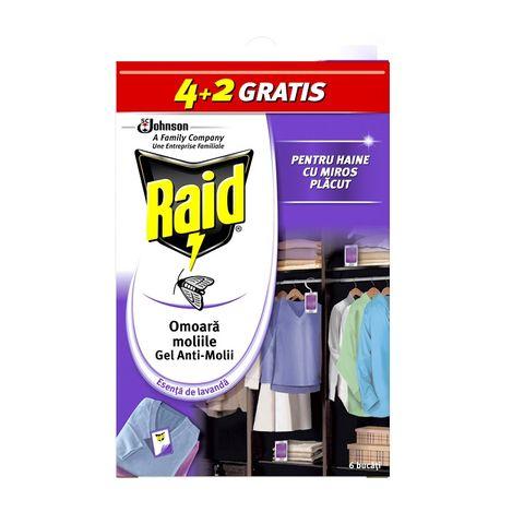 Raid Гел срещу молци мултипак Лавандула x6 броя