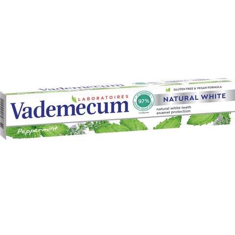 Vademecum Natural White Избелваща паста за зъби с мента х75 мл
