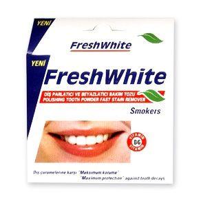 Fresh White Прах за избелване на зъби за пушачи х50 гр