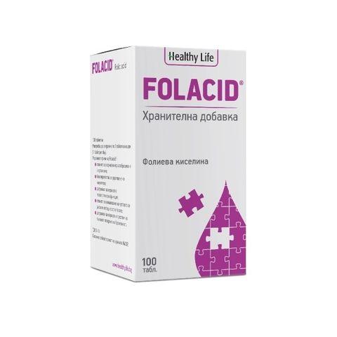 Healthy Life Folacid Фолиева киселина x100 таблетки