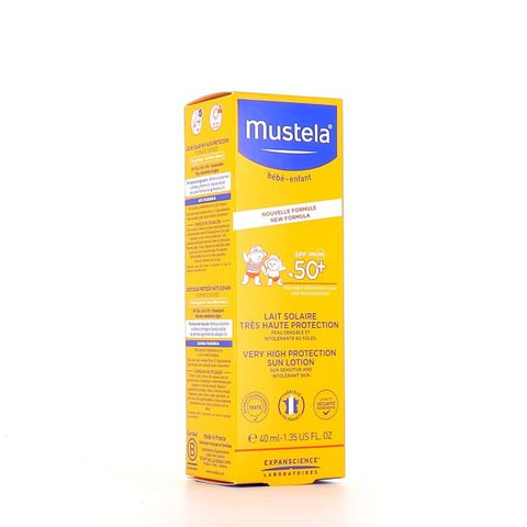 Mustela Слънцезащитен лосион за лице и тяло за бебета и деца SPF50+ x40 мл