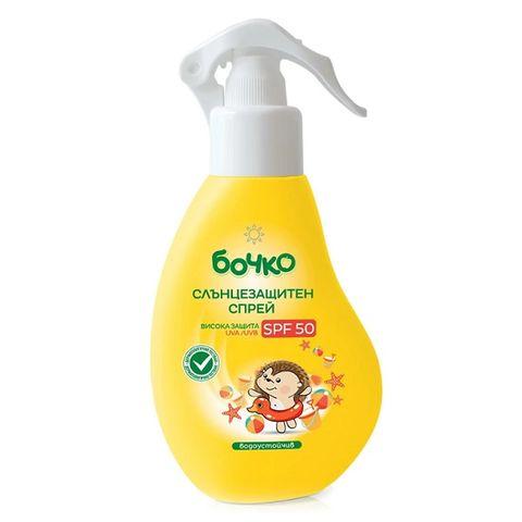 Бочко Слънцезащитен спрей за тяло за бебета и деца SPF50 х150 мл