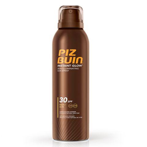 Piz Buin Instant Glow Слънцезащитен спрей за тяло за блестящ тен SPF 30 x150 мл
