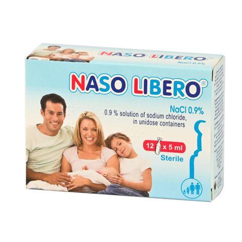 Naso Libero Физиологичен разтвор в монодози 0.9% NaCl 5 мл х12 ампули