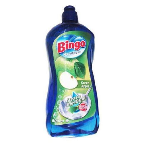 Bingo Green Apple Почистващ препарат за съдове с аромат на ябълка x500 мл