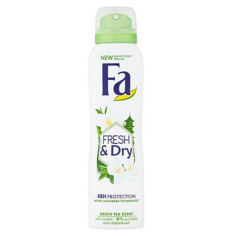 Fa Fresh&Dry Део спрей против изпотяване за жени с аромат на зелен чай х150 мл