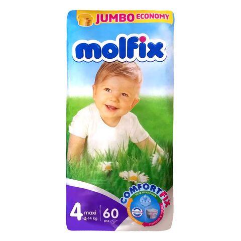 Molfix 4 Maxi Пелени за бебета и деца 7-14кг х60 броя