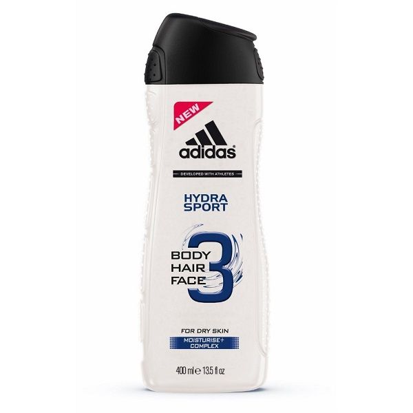 Adidas Hydra Sport Мъжки хидратиращ душ гел за коса и тяло за суха кожа х400 мл