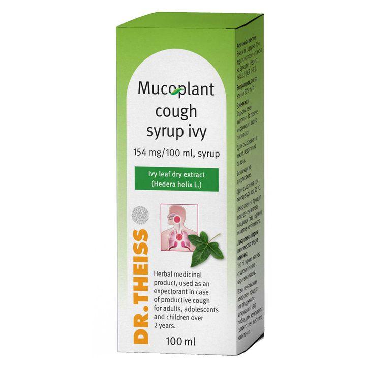 Dr. Theiss Мукоплант сироп с бръшлян при продуктивна кашлица х100мл