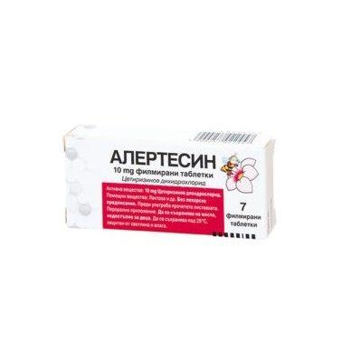 Алертесин при алергии 10 мг х7 таблетки