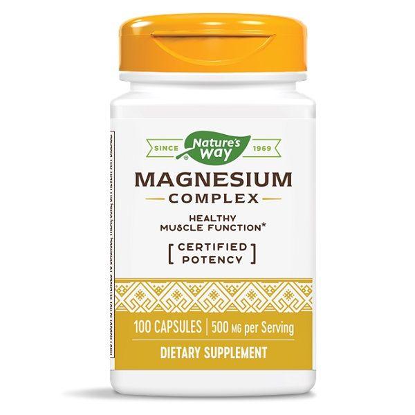 Magnesium Complex Магнезий за мускулите и нервната система х100 капсули Nature's Way