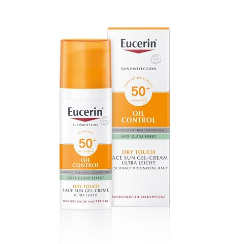 Eucerin Sun Слънцезащитен крем-гел за лице за мазна кожа SPF50+ x50мл
