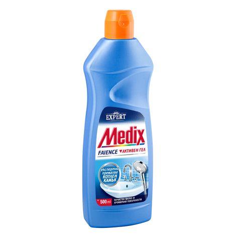 Medix Faience Почистващ препарат за фаянс и хромирани повърхности x500 мл