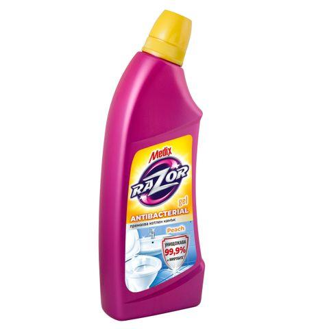 Medix Razor Gel Antibacterial Peach Почистващ гел за баня x750 мл