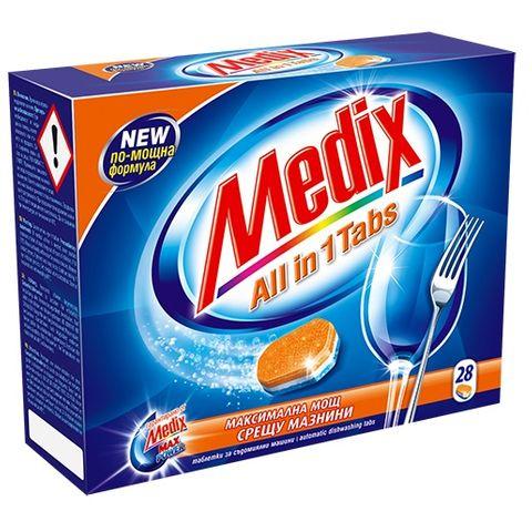 Medix All In One Таблетки за съдомиялна машина х28 броя