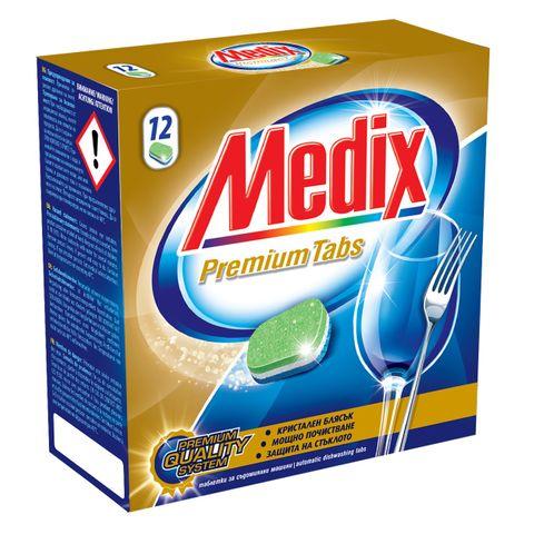 Medix Premium Таблетки за съдомиялна машина с мощна формула х12 броя
