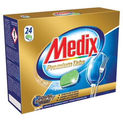 Medix Premium Таблетки за съдомиялна машина с мощна формула х24 броя