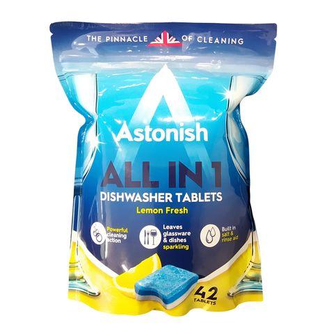 Astonish All in 1 Dishwasher Tablets Таблетки за съдомиялна машина x42 броя