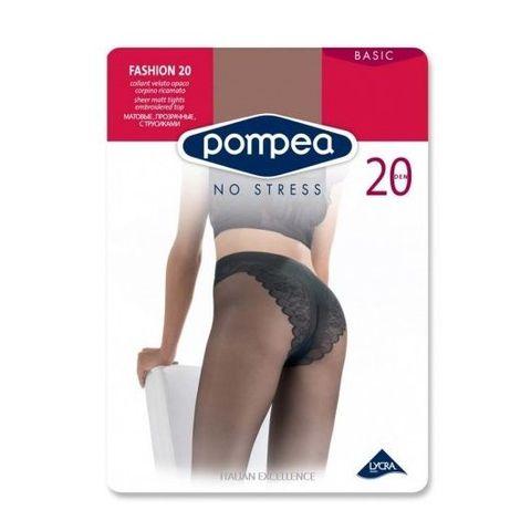 Pompea Fashion 20 Матов дамски чорапогащник с бродирани бикини, цвят Nero, размер 3 M х1 брой