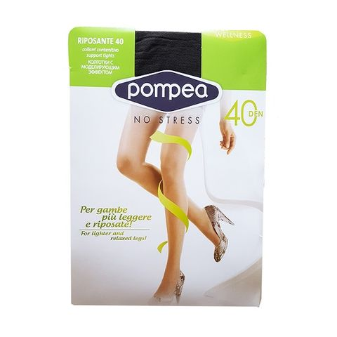 Pompea Riposante 40 Дамски чорапогащник със стягащ и масажиращ ефект, цвят Mineral, размер XL х1 брой