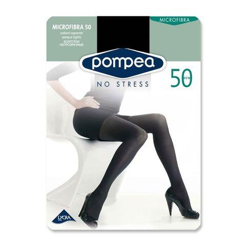 Pompea Microfibra 50 Микрофибърен дамски чорапогащник, цвят Nero, размер XL х1 брой