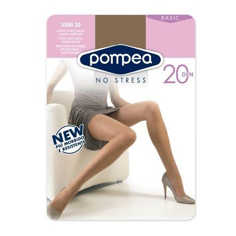 Pompea Basic 20 Дамски еластичен чорапогащник за всеки ден, цвят Tabacco, размер XL х1 брой
