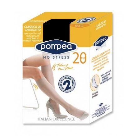 Pompea Classico 20 GB Дамски еластични чорапи, цвят Nero х1 брой