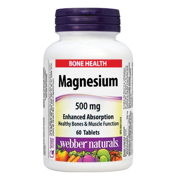 Webber Naturals Магнезий 500мг х60 таблетки