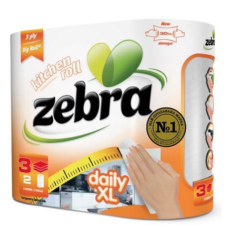 Zebra Daily Xl Домакинска ролка x2 броя