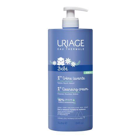 Uriage Bebe Нежен пенлив душ-крем за бебета и деца за лице, тяло и коса x1 л