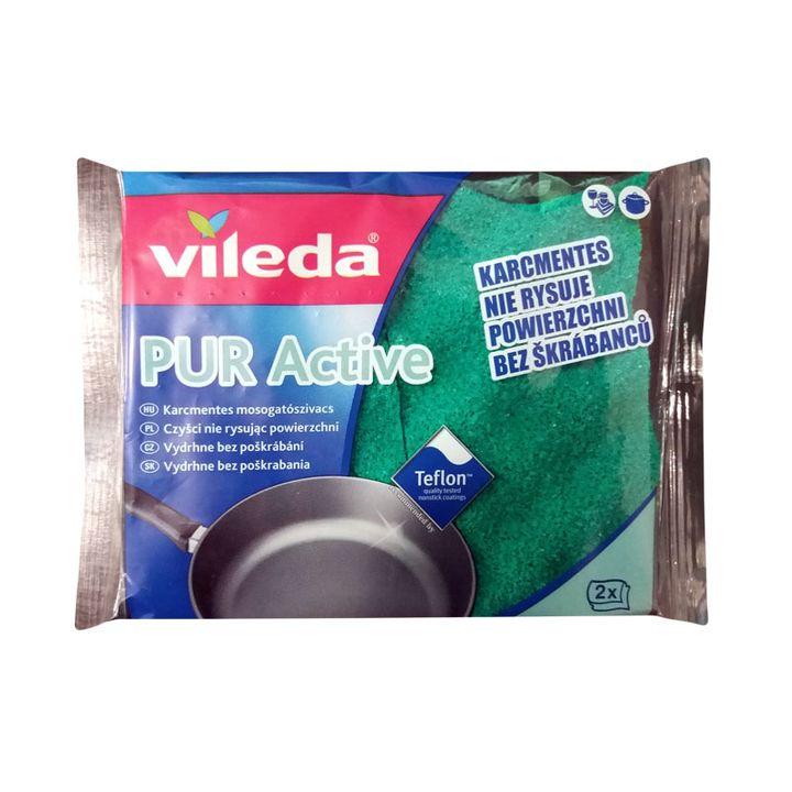 Vileda Pur Active Домакинска гъба за тефлон x2 броя