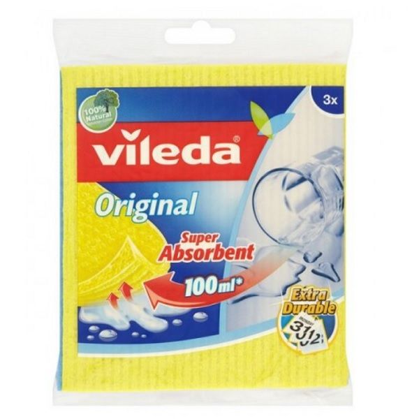 Vileda Original Попиващи влажни кърпи x3 броя