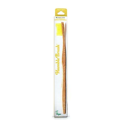Humble Brush Бамбукова четка за зъби за възрастни, цвят Жълта х1 брой
