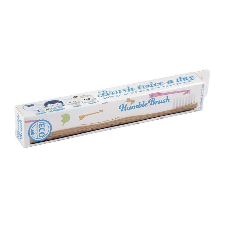 Humble Brush Бамбукова четка за зъби за деца, цвят Бяла х1 брой