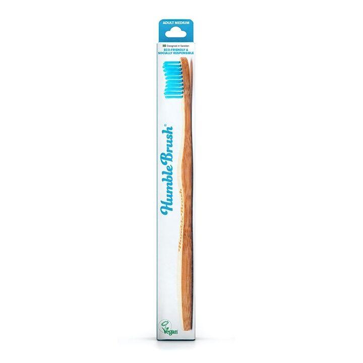 Humble Brush Бамбукова четка за зъби за възрастни, цвят синя х1 брой