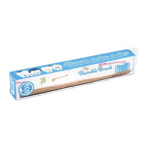 Humble Brush Бамбукова четка за зъби за деца, цвят Синя х1 брой
