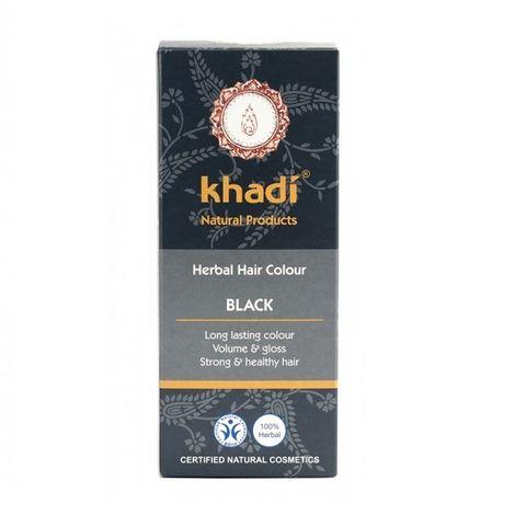Khadi Билкова боя за коса, цвят Черен x100 грама