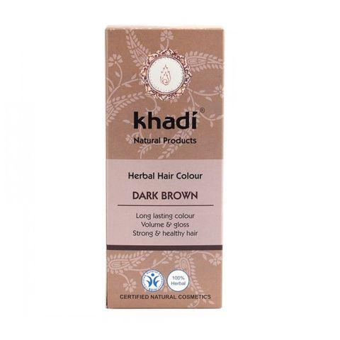 Khadi Билкова боя за коса, цвят Тъмно кафяв x100 грама