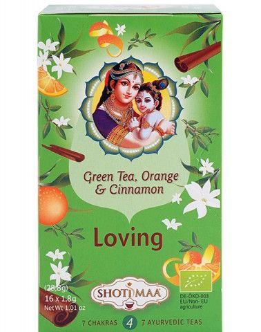 Shoti Maa Любов Чай със зелен чай, портокал и канела х16 филтърни пакетчета