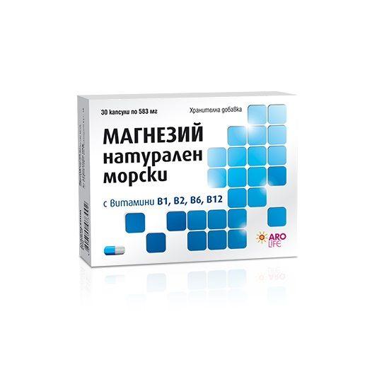 Aro Life Магнезий Натурален Морски 583 мг х30 капсули
